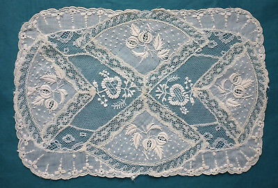 Antique/vintage Normandy lace mat