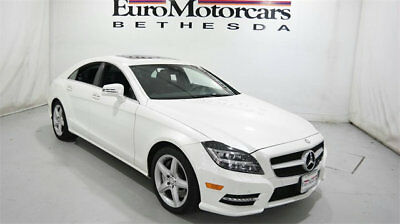 2014 Mercedes-Benz CLS-Class 4dr Sedan CLS 550 4MATIC mercedes benz cls 550 4matic 14 15 16 white leather navigation coupe certified