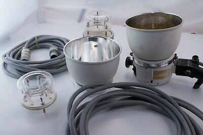 Norman Flash/Strobe Studio Light Head with 2 Cables and 3 Flash Tubes (LH500?)