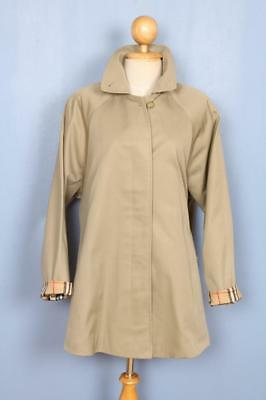 BEAUTIFUL Womens BURBERRY Single Breasted Short TRENCH Coat Mac Beige Size 18/20