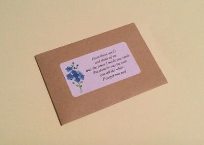 FORGET ME NOT SEEDS remembrance Funeral Lost Loved One Family Baby KEEPSAKE gift