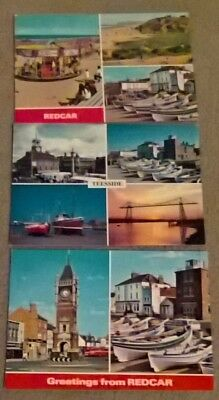 3 Postcards of Redcar and Teeside