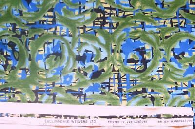 Pair Vintage 1950S Abstract Curtains Cullingdale Weavers