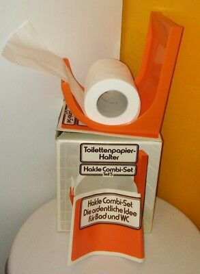 Hakle Toilettenpapier Halterung ca. 1975 Teil 5 orange