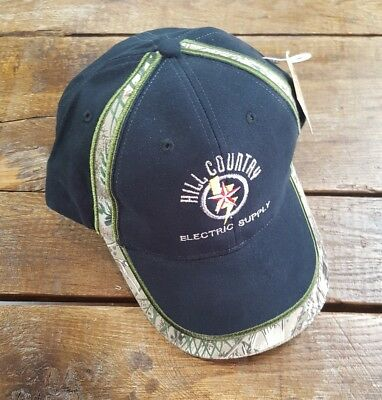 HILL COUNTRY ELECTRIC SUPPLY Baseball Cap Hat Camo Black Adjustable Strap  NEW! fb54d30d750