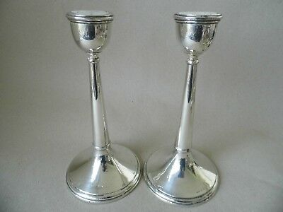 "Antique pair 7 3/4"" sterling silver candlesticks 1923"