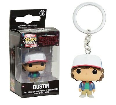 Funko Pocket Pop Keychain: Stranger Things - Dustin Vinyl Keychain Item No 14229