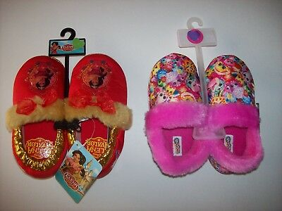 Shopkins Elena of Avalor Slippers S 5/6 M 7/8 L 9/10 Pink Red Faux Fur New