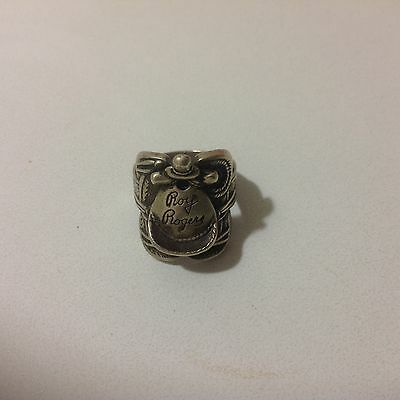Antique 1940s Roy Rogers Antique Silver Saddle Ring - Very Nice