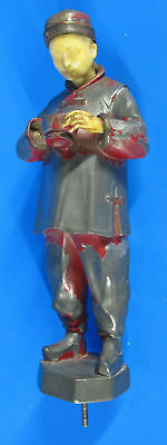 Chinoiserie Celluloid Pewter Chinaman Chinese Figure Hollywood Regency Deco yqz