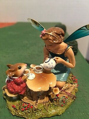 Wee Forest Folk - JUST A WEE DROP 1999- Fairy & Mouse by William Petersen