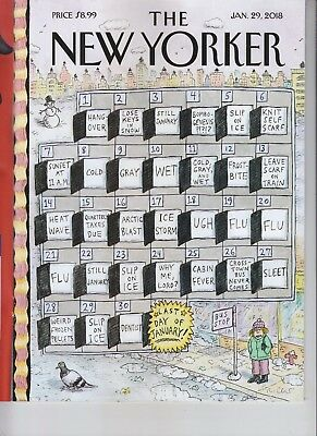 Cruellest Month The New Yorker Magazine January 29 2018 No Label
