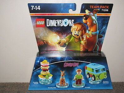 """Various Lego Dimensions Team Pack """"harry Potter, Scooby-Do & Jurrasic World"""""""