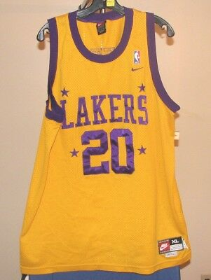 007c970c7 NIKE LOS ANGELES Lakers NBA Rewind Gary Payton  20 Jersey XL NWT ...