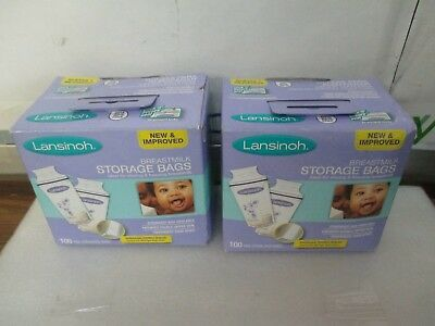 Lansinoh Breastmilk Storage Bags With Convenient Pour Spout 2 pack