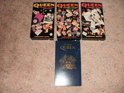 Queen Magic Years Vhs Set Of 3 And Classic Queen Freddie Mercury Brian May