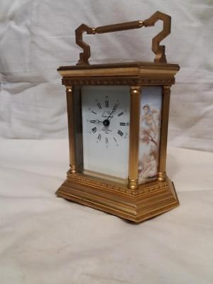 French L Epee Six Sided Enamel Carriage Clock
