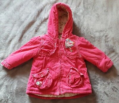 Girls NEXT pink coat age 9-12 months