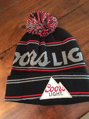 New Coors Light Beer Winter Pom Pom Beanie Toque Hat