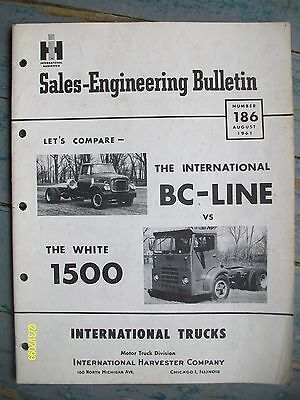 Vintage IH International Harvester 1961 BC-Line White 1500 Truck Bulletin