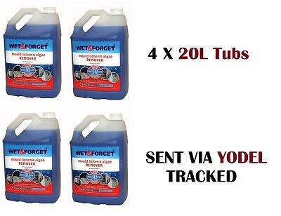 4 x 5L WET AND FORGET MOULD, ALGAE AND LICHEN REMOVAL - FREE P&P