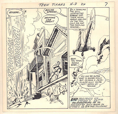 Teen Titans #24 p.7 - Geysers End of Part 1 - 1969 art by Gil Kane & Nick Cardy