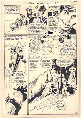 Teen Titans #24 p.5 Team Tracking on Mountain 1969 art by Gil Kane & Nick Cardy
