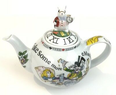 Paul Cardew Alice in Wonderland Teapot White Rabbit Mad Hatter New Boxed Tea Pot