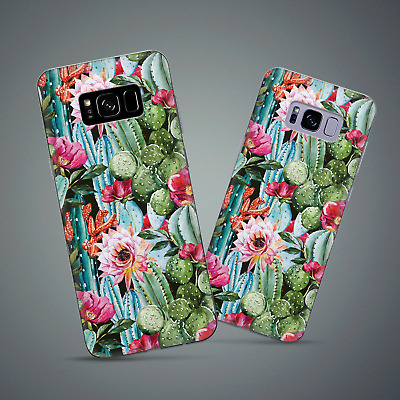 Galaxy S9 Plus Cactus Floral Silicone Case for Samsung S8 Plus S7 Edge S6 Note 9