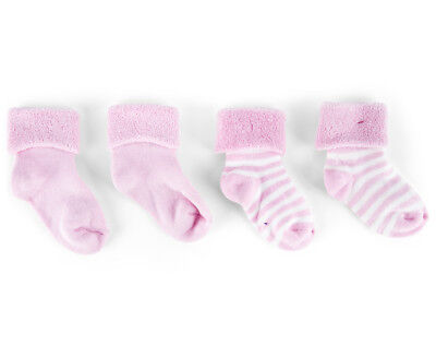 Bonds Baby Size 1-2 Bootee Socks 2-Pack - Pink