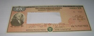 $75 Series EE 1986 United States U.S. Savings Bond
