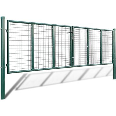Mesh Garden Gate 415 x 175 cm / 400 x 125 cm Dark Green Galvanised Steel