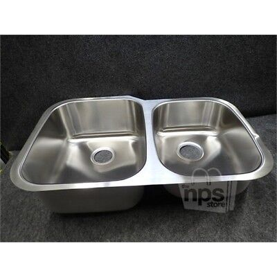 Extra Large 60/40 Double Bowl Sink, Stainless Steel SS-004*