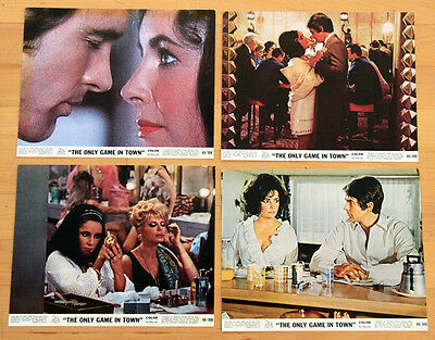 ELIZABETH TAYLOR liz lobby cards WARREN BEATTY color photos ONLY GAME IN TOWN