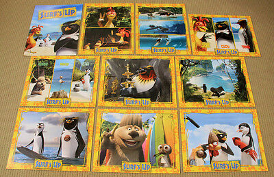 SURF'S UP original SEALED LOBBY CARD SET animation SHIA LaBEOUF Zooey Deschanel