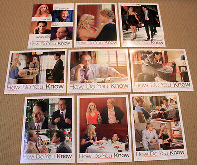 HOW DO YOU KNOW original SEALED 8x10 LOBBY CARD SET Reese Witherspoon PAUL RUDD