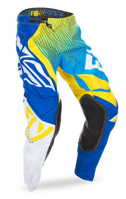 Fly Racing Evolution 2.0 Pant Blue/Yellow/White Sz 38 370-23138