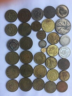 Large Lot of 189 tokens,chips or medals