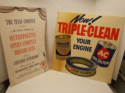 2 Vintage Posters Advertising Products Made/Used by the TEXACO Oil Co.