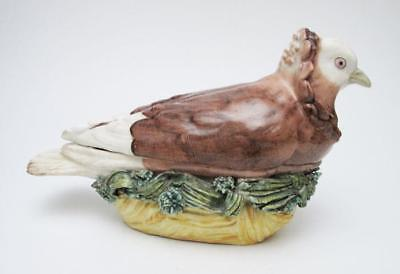 Rare 18Th Century Early Meissen Antique German Porcelain Dove Pigeon Tureen