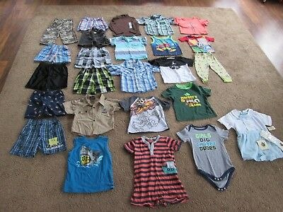 Lot of 25 Pieces Baby Toddler BOYS 24 month Sping / Summer / Clothes