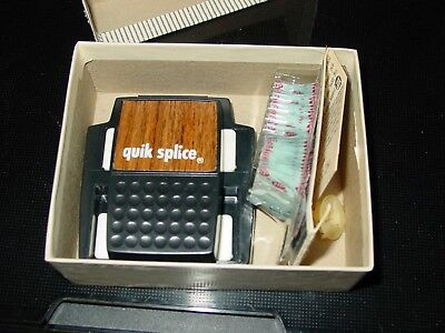 Vintage Quik Splice Super 8 and 8MM  Movie Film Splicer w/ Tape