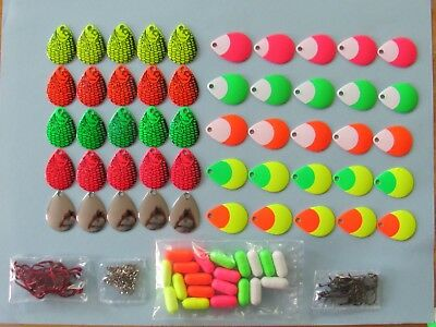 1,170 Piece Walleye Spinner Kit, Make Your Own Worm Harnesses