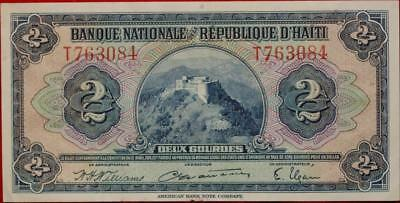 Uncirculated Bank Of Haiti 2 Gourdes Note
