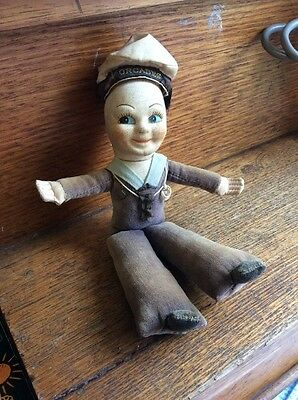 Vintage1950s Norah Wellings Souvenir Cloth Sailor Doll:Orcades Lines