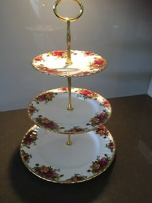"""Royal Albert """"Old Country Roses"""" Three Tier Cake Stand"""