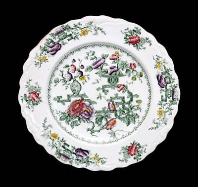 Vintage 1930s Crown Ducal Chinese Garden English Ironstone pretty plate