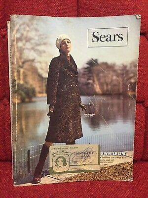 Antique Sears Fall & Winter 1970 Catalog