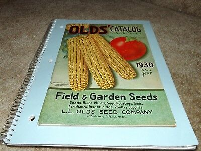 OLDS' CATALOG 1930 FIELD & GARDEN SEEDS-Very Fine Condition W/Inserts MADISON,WI