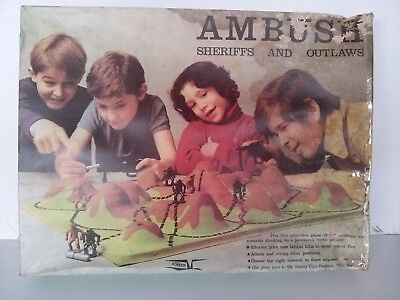 Vintage 1970s Ambush and Sheriffs Game from Condor. Very Rare
